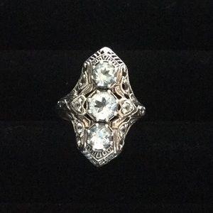 🌿Natural Aquamarine Sterling Silver Ring🌿
